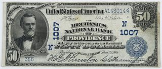 1902 $50 Mechanics NB of Providence, RI