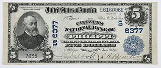1902 $5 Citizens NB Philippi, West Virginia