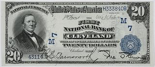 1902 $20 First NB Cleveland, Ohio