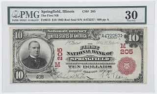 1902 $10 First NB Springfield, IL