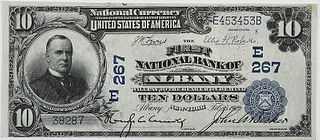1902 $10 First National Bank Albany, NY