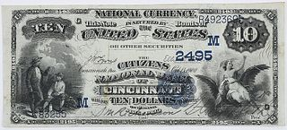 1882 $10 Citizens NB Cincinnati, Ohio