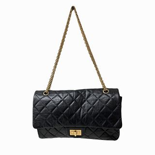 Chanel Shoulder Bag in Black with Gold Chain Strap