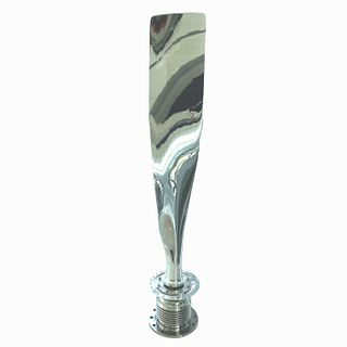 Large Polished Airplane Propeller On Base