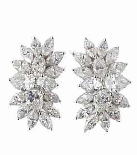 7.62ct Cluster Earrings