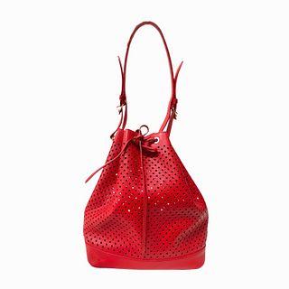 2012 Louis Vuitton Red Leather Handbag