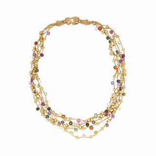 marco bicego Multi Color Gem Stone Necklace