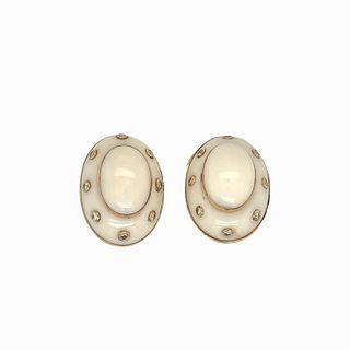 Possibly David Webb Enamel Earrings