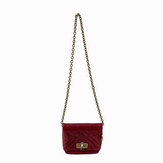 Lanvin Italian Cross Body Burgundy Leather Bag