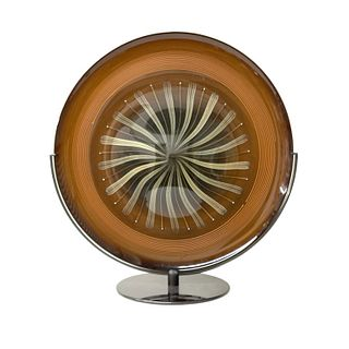 Murano Glass Disc on Stand