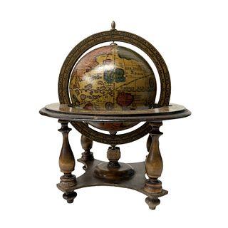 1950's Italian Zodiac Globe Bar
