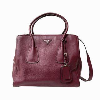 Prada Shoulder Bag in Burgundy
