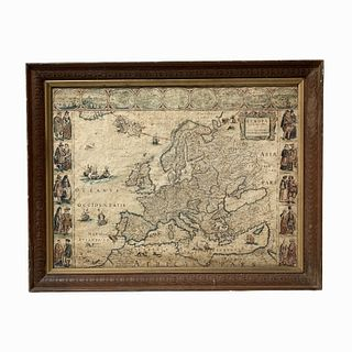 EVROPA Map on Canvas