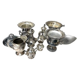 Large Collection of Silver Plate