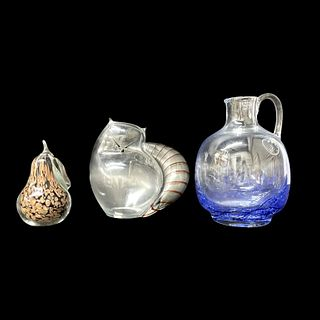 (3) Three Art Glass Items