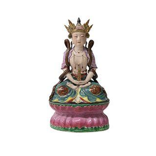 Chinese Quan Yin Porcelain Figure