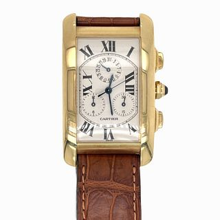 Cartier Tank 18K Leather Band