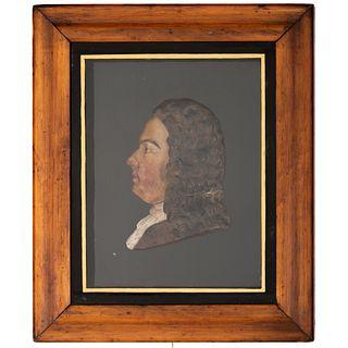 A Wax Profile Portrait