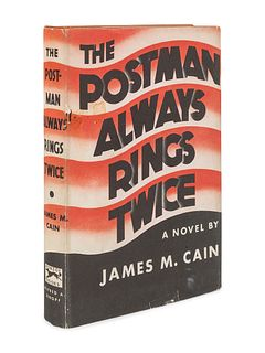 CAIN, James Mallahan (1892-1977). The Postman Always Rings Twice. New York: Alfred A. Knopf, 1934.
