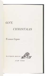 [CAPOTE, Truman (1924-1984)]. A group of 3 FIRST EDITIONS, SIGNED BY CAPOTE, comprising: