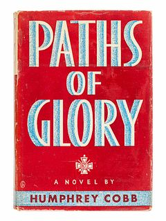 COBB, Humphrey (1899-1944). Paths of Glory. New York: The Viking Press, 1935.