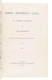 DICKENS, Charles (1812-1870). Master Humphrey's Clock. London: Chapman & Hall, 1840-1841.