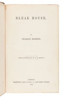 DICKENS, Charles (1812-1870). Bleak House. London: Bradbury & Evans, 1853.