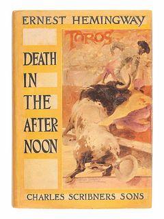 HEMINGWAY, Ernest (1899-1961).Death in the Afternoon. New York: Scribner's, 1932.