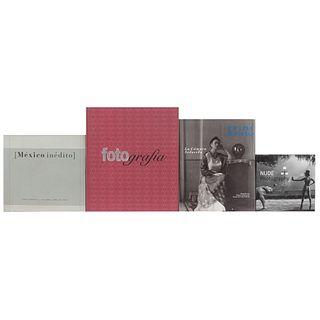 LIBROS SOBRE FOTOGRAFÍA. a) Nude Photography. b) México Inédito. c) Frida Kahlo. La Cámara Seducida. Piezas: 4.