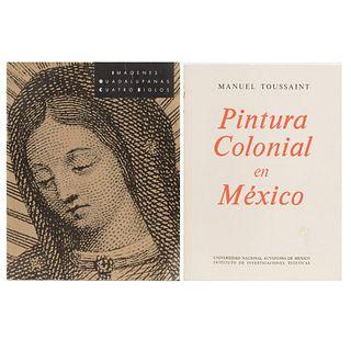 LIBROS SOBRE ARTE VIRREINAL. a)  Imágenes Guadalupanas Cuatro Siglos. b) Pintura Colonial en México. Piezas: 2.
