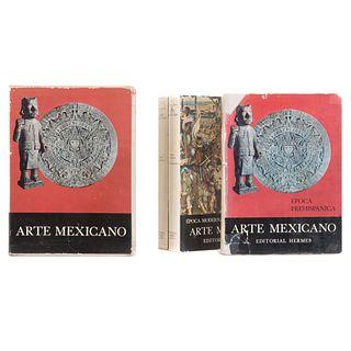 Historia General del Arte Mexicano. Flores Guerrero / Rojas, Pedro / Tibol, Raquel. México: Editorial Hermes, 1962 -1964. Piezas: 3.
