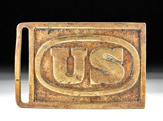 1870s American Brass Buckle - US Military Indian Wars