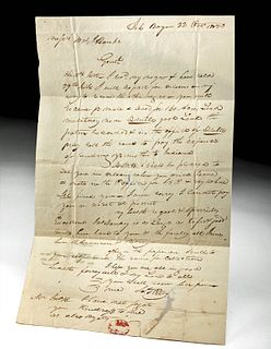 1828 American Paper Letter - Arkansas to New Orleans
