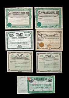 Early 20th C. American Stock Certificates