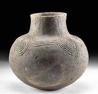 Mississippian Bell Plain Incised Pottery Jar w/ TL