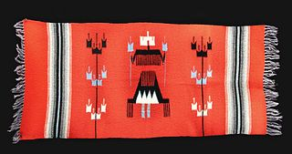 20th C. Ortega's of Chimayo Wool Rug