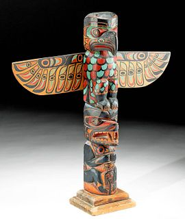 Northwest Coast Cedar Totem Pole, ca. 1940s
