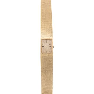 A Ladies' 14K Yellow Gold Omega Wrist Watch