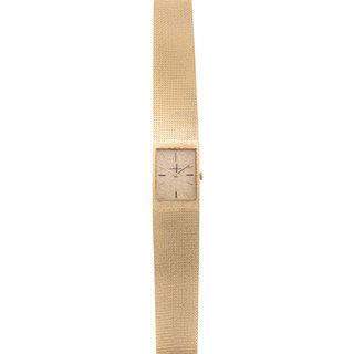 A Ladies' 14K Yellow Gold Omega Wrist Watch