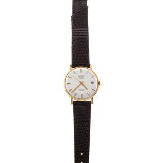 A Gent's Vintage 18K Miramar Geneve Wrist Watch
