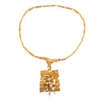 A Potter & Mellen 18K Necklace By Bjorn Weckstrom