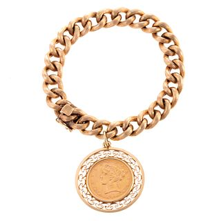 A 1906 $5 Gold Coin Charm Bracelet