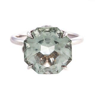 A Tiffany & Co. Green Quartz Sparkler Ring