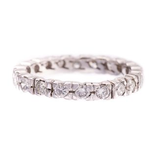 A Diamond Eternity Band in 14K White Gold