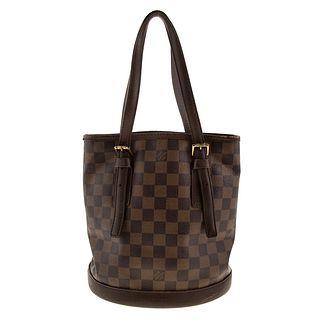 A Louis Vuitton Damier Ebene Marais Bucket Bag