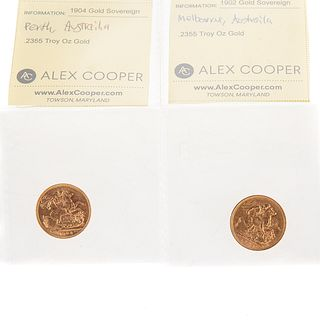 Two Gold Sovereigns from Australia 1902/1904