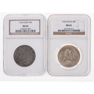 Pair of Nice Silver Commemorative Halves
