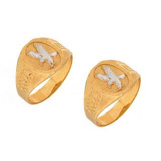 Two Men's 14K Rings