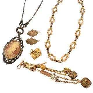 Six Piece Antique Jewelry Lot