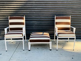 2 Armchairs & Ottoman Made in Spain by Hugonet